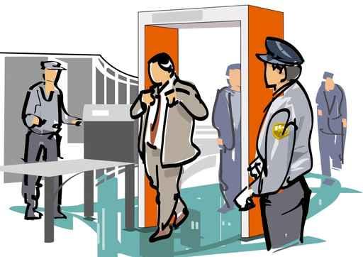 Le contrôle de sécurité à l'aéroport