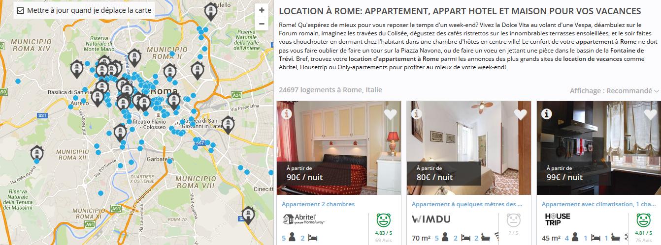 Comparer les locations à Rome avec Likibu