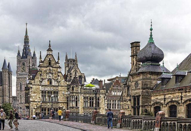 La ville de Gand en Belgique