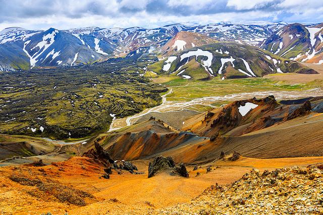 Les paysages de Landmannalaugar en Islande