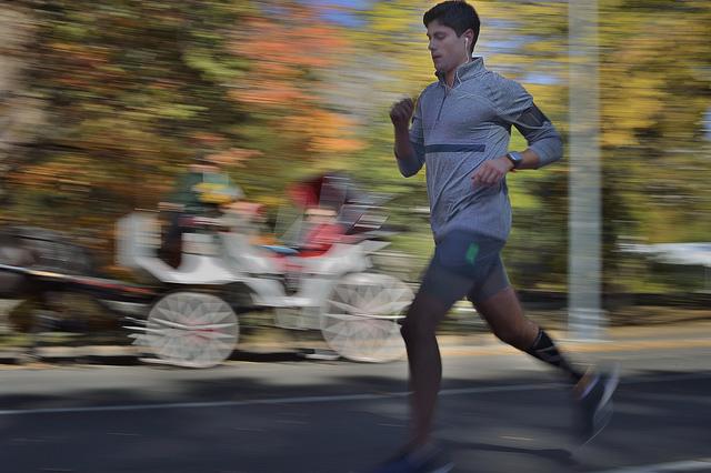 Un coureur à Central Park
