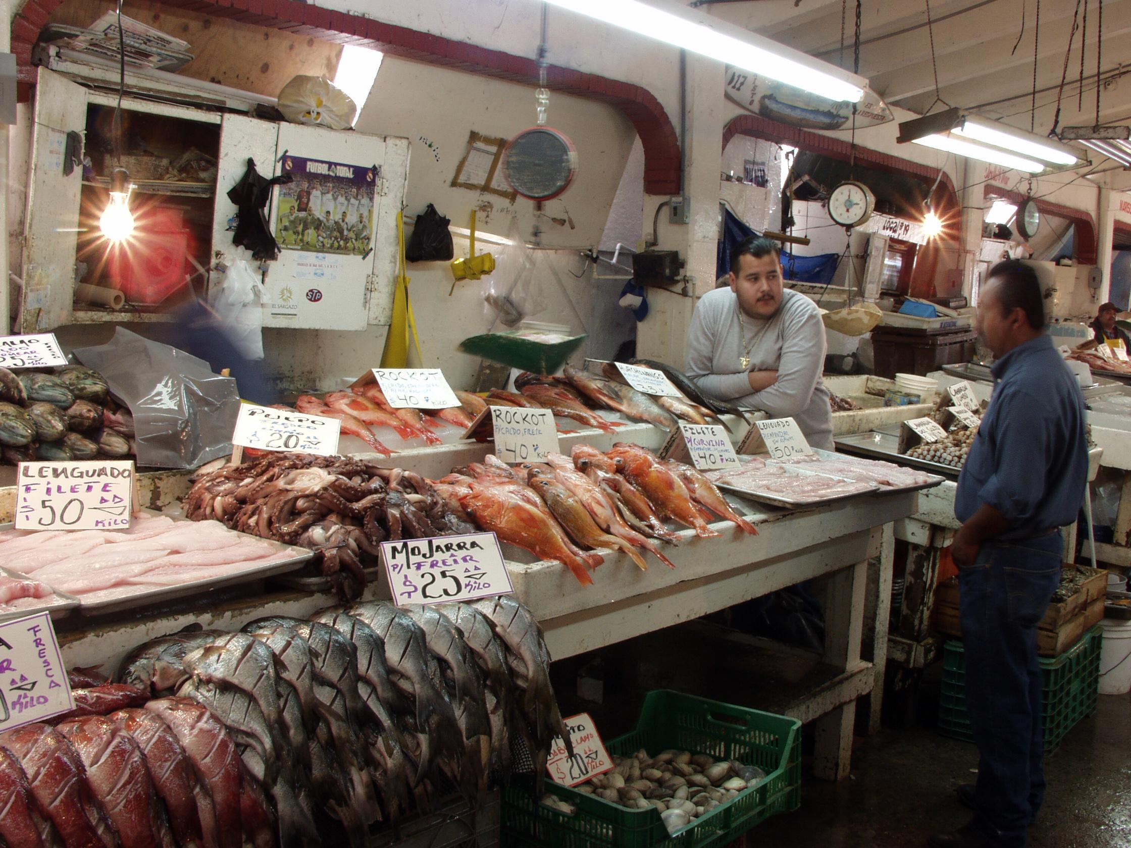 Marché de poissons à Panama City