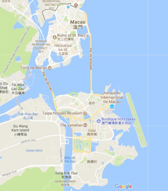 Carte de Macau