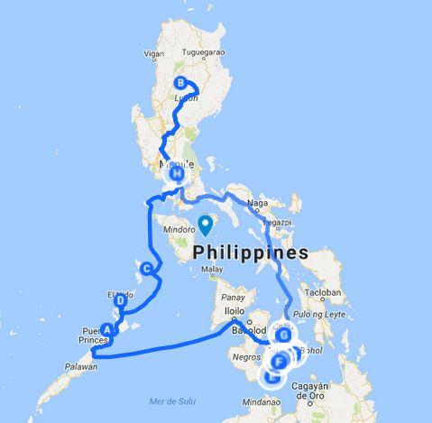 Itinéraire voyage 3 semaines aux Philippines