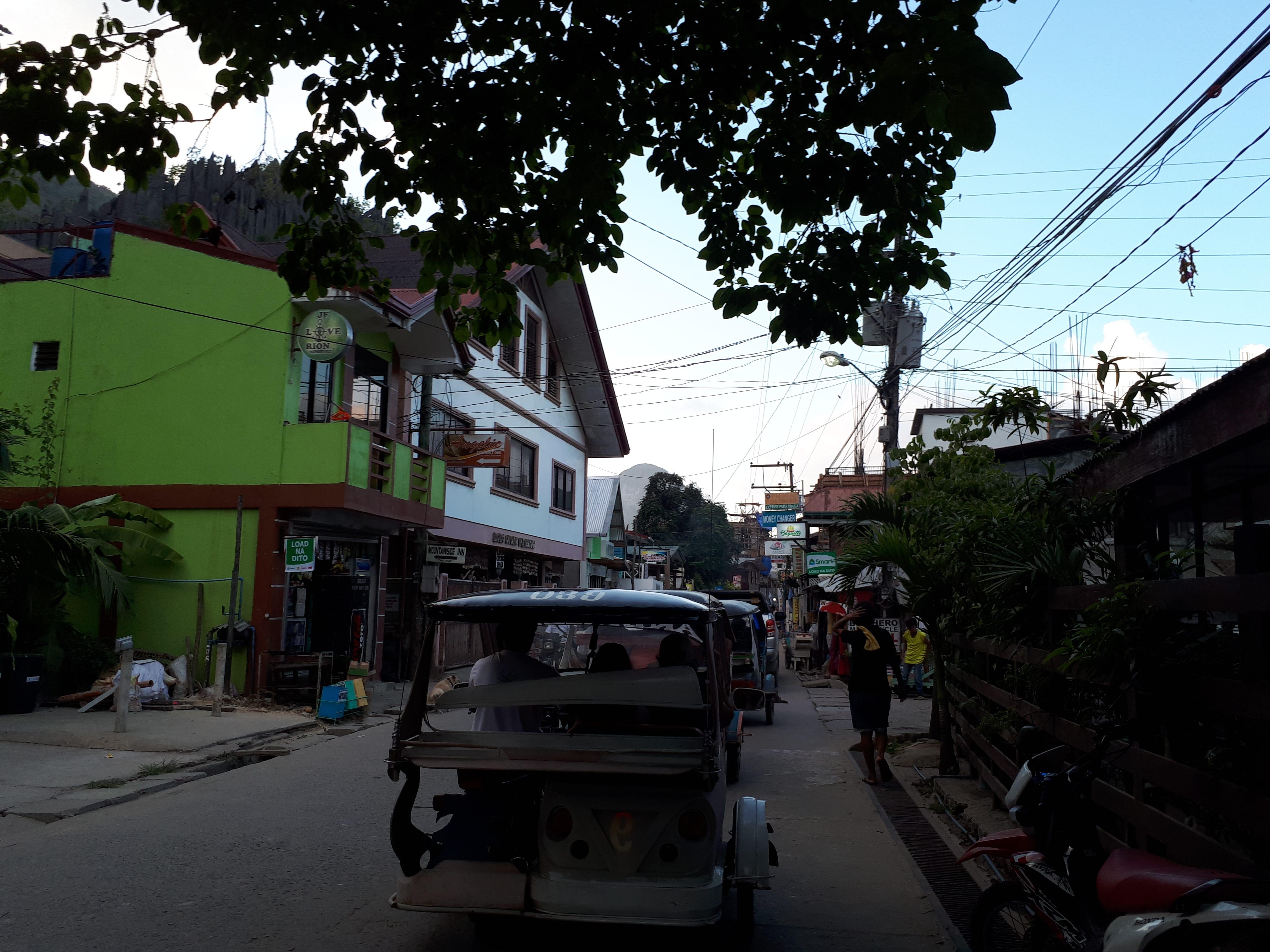 Centre-ville d'El Nido aux Philippines
