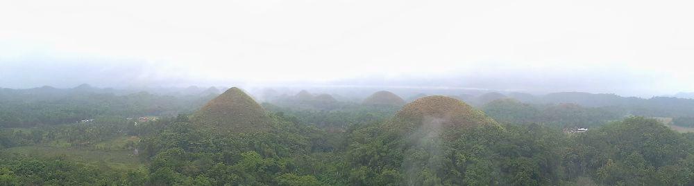 Les Chocolate Hills aux Philippines