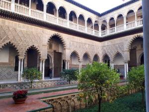 Patio principal de l'Alcazar - Séville