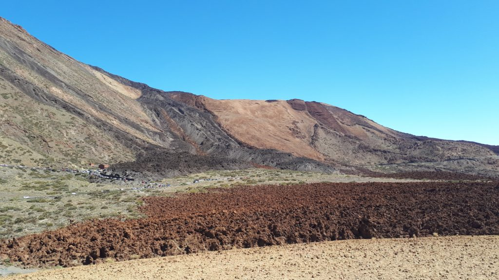 Les coulées de laves séchées de El Teide