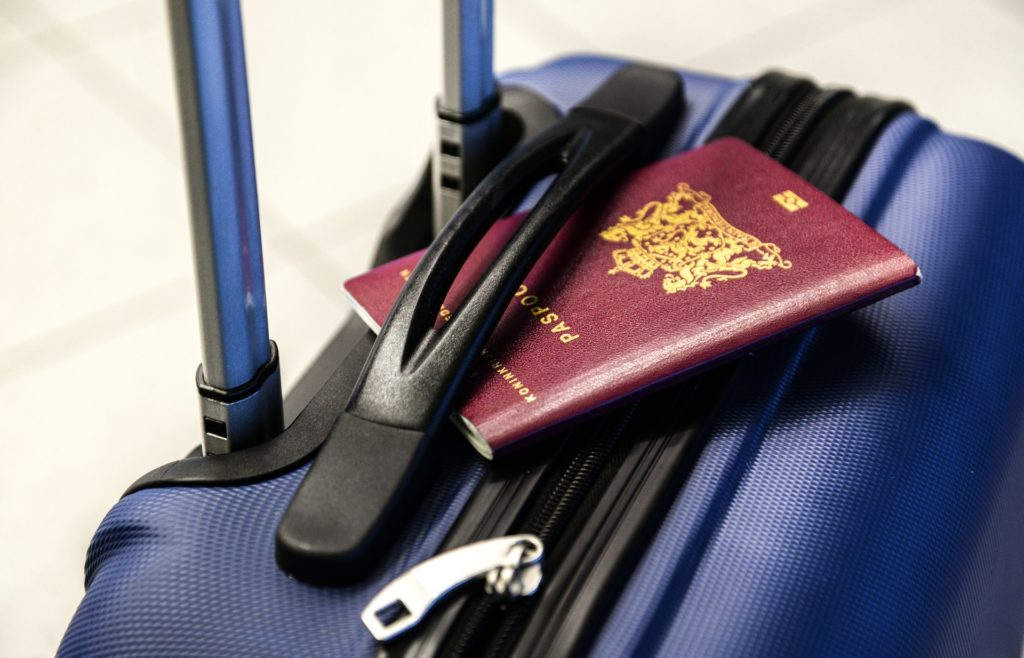 Valise et passeport