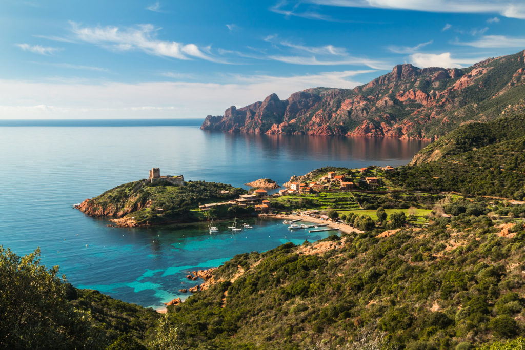 Girolata en Corse